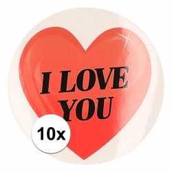 10 bij cadeaustickers i love you hart 9