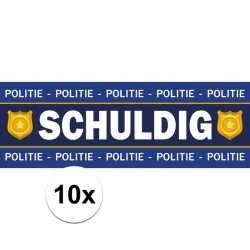 10 bij schuldig stickers politie/agent kostuum