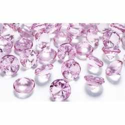 10 decoratie diamantjes lichtroze 2