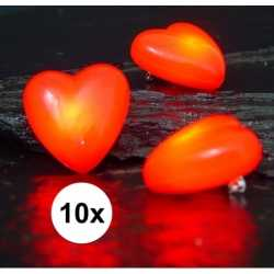 10 hartjes broches knipperlicht