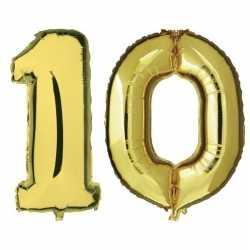 10 jaar gouden folie ballonnen 88 leeftijd/cijfer