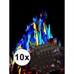 10 pakjes Mystical Fire gekleurde vlammen