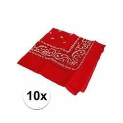 10 rode boeren zakdoeken