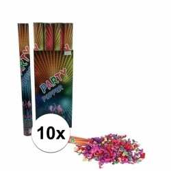 10 stuks confetti kanonnen kleuren 60