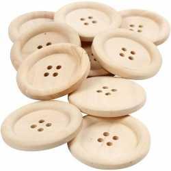 10 stuks houten knopen 35 mm