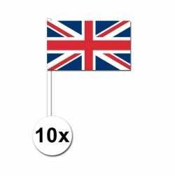 10 zwaaivlaggetjes Verenigd Koninkrijk 12 bij 24