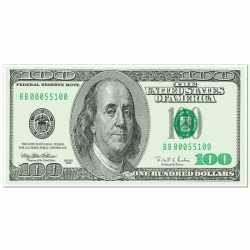 100 dollar banner 76 bij 150
