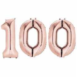 100 jaar rose gouden folie ballonnen 88 leeftijd/cijfer
