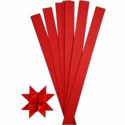 100 Papieren stroken rood 73