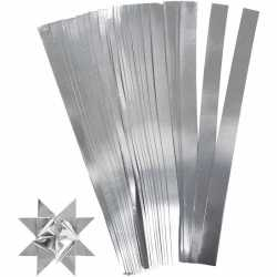 100 Papieren stroken zilver 45