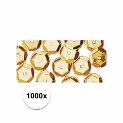 1000x pailletten goud 6 mm