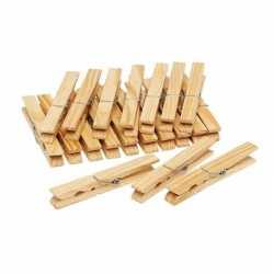 100x houten wasknijpers / knijpers