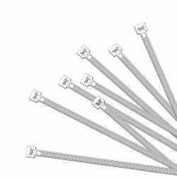 100x kabelbinders tie wraps wit 370 bij 4,8 mm