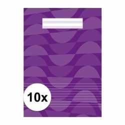 10x a4 lijntjes schriften paars