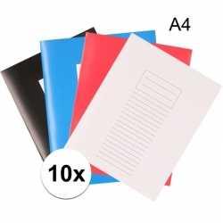 10x a4 lijntjes schriften