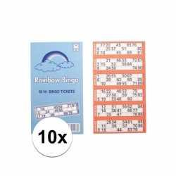 10x bingokaarten 1 90