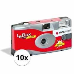 10x bruiloft/vrijgezellenfeest wegwerp camera 27 fotos flits