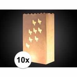 10x candle bag vlinder print 26
