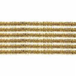 10x chenilledraad goud 50