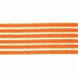 10x chenilledraad oranje 50
