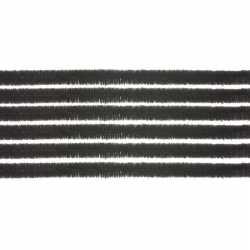 10x chenilledraad zwart 50