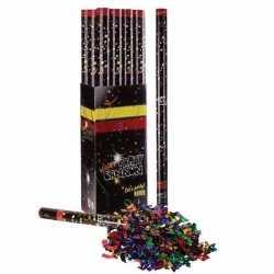 10x confetti kanon multi kleur metallic 80