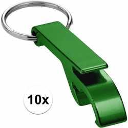 10x flesopener sleutelhanger groen