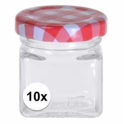 10x inmaak/weckpotten 50 ml draaideksel