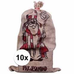 10x jute zakken sinterklaas 60 bij 102