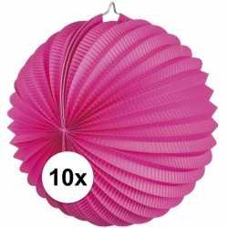 10x lampionnen fuchsia roze 22