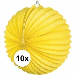 10x lampionnen geel 22