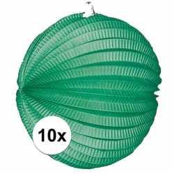 10x lampionnen groen 22