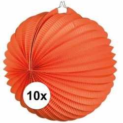 10x lampionnen oranje 22
