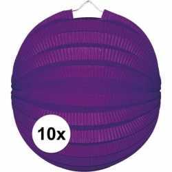 10x lampionnen paars 22