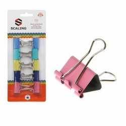 10x papier clips/houders gekleurd 25 mm