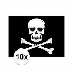 10x piraten thema stickers 7.5 bij 10