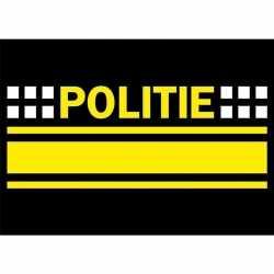 10x politie logo sticker 7.5 bij 10