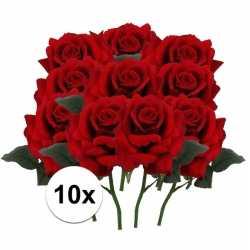 10x rode rozen deluxe kunstbloemen 31