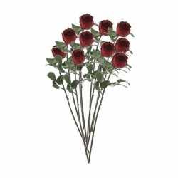 10x rode rozen kunstbloemen 69