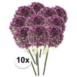 10x roze/paarse sierui kunstbloemen 70