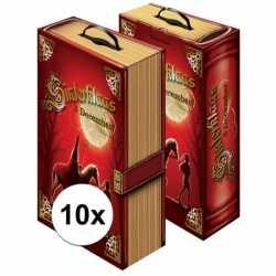 10x sinterklaas boek cadeaudoos/ cadeauverpakking