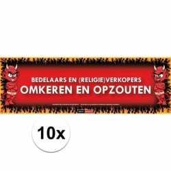 10x sticky devil bedelaars verkopers omkeren opzouten