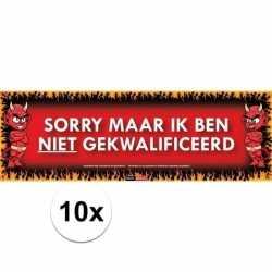 10x sticky devil sorry maar ik ben niet gekwalificeerd