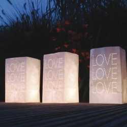 10x stuks candle bags set love thema 26