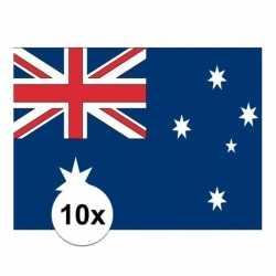 10x stuks vlag australie stickers