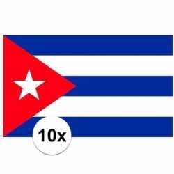 10x stuks vlag cuba stickers