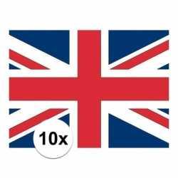 10x stuks vlag engeland stickers