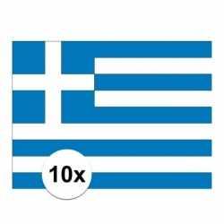 10x stuks vlag griekenland stickers