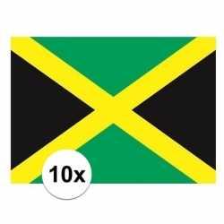 10x stuks vlag jamaica stickers