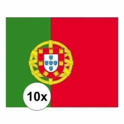 10x stuks vlag portugal stickers